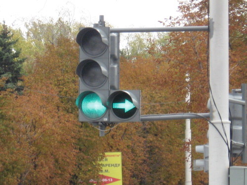 светофор дополнительной секцией фото