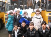 Для образовательных учреждений Октябрьского района выделены 7 школьных автобусов