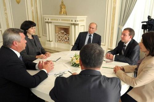 Губернатор и жители области встретились с президентом страны