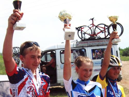 Шахтинские велосипедистки победили на спартакиаде Дона