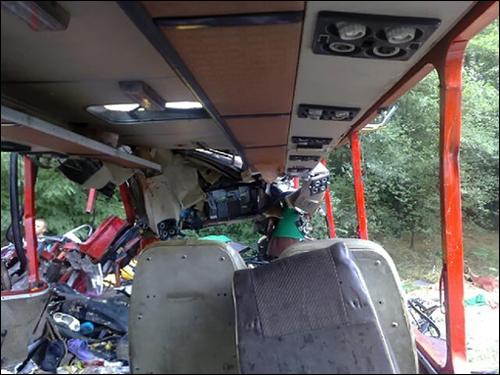 Водитель рейсового автобуса погиб в ДТП