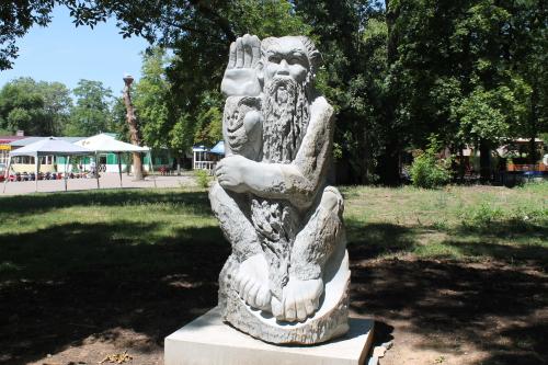 В Александровском парке появился леший