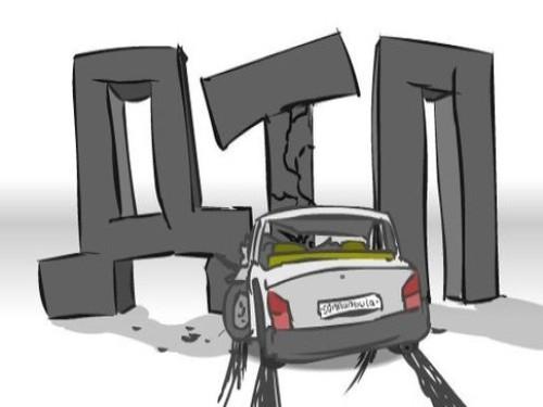 Грузовик и иномарка встретились на перекрёстке