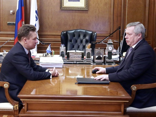 Василий Голубев ходатайствовал перед Алексеем Миллером о модернизации ГРС в Шахтах