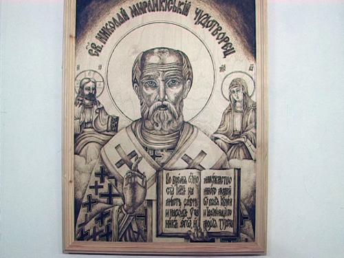 В шахтинском краеведческом музее можно полюбоваться картинами в технике «пирография»