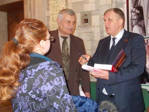 В Шахтах прошла встреча с депутатом Николаем Коломейцевым