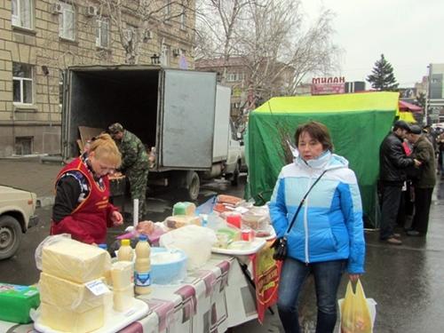 Перед Пасхой в Шахтах - ярмарка