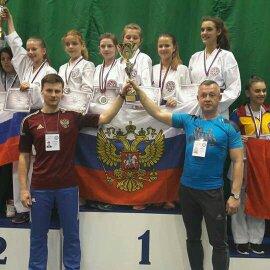 Анастасия Леонова стала чемпионкой Европы по Сито-рю  каратэ.