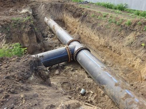 На сутки раньше срока  запущен новый участок водовода