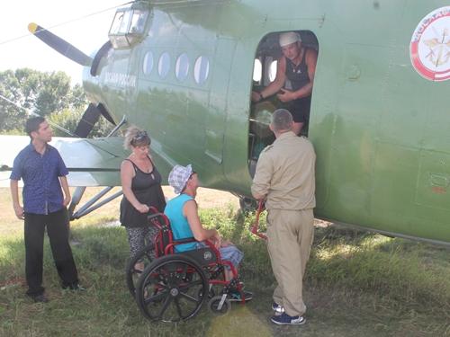 Инвалиды-колясочники смогли увидеть землю с птичьего полёта