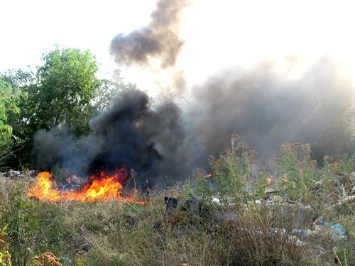 """По мнению очевидца, причиной воскресного пожара в районе улицы Земледельческой был """"человеческий фактор"""""""
