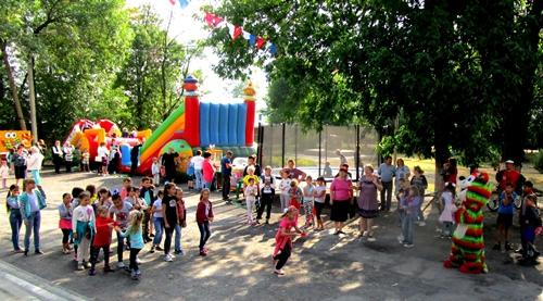 День знаний в посёлке Таловом