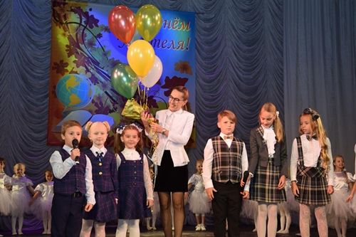 Шахтинские учителя принимали поздравления