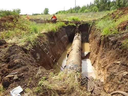 Очередную аварию на новошахтинском водоводе обещают устранить пораньше