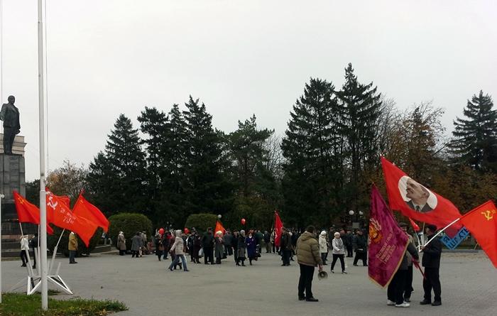 Шахтинские коммунисты отметили 100-летие Великой Октябрьской социалистической революции