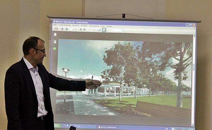 Обсудили дизайн-проект сквера на Артёме