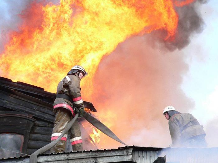 Сгорела летняя кухня