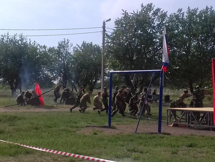 На Дувановке прошла реконструкция военных событий