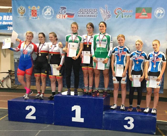 Шесть бронзовых медалей завоевали велосипедистки на первенстве России