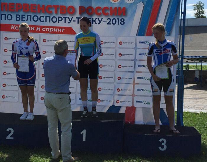 Серебро и бронзу принесли шахтинской велосипедистке выступления в Туле