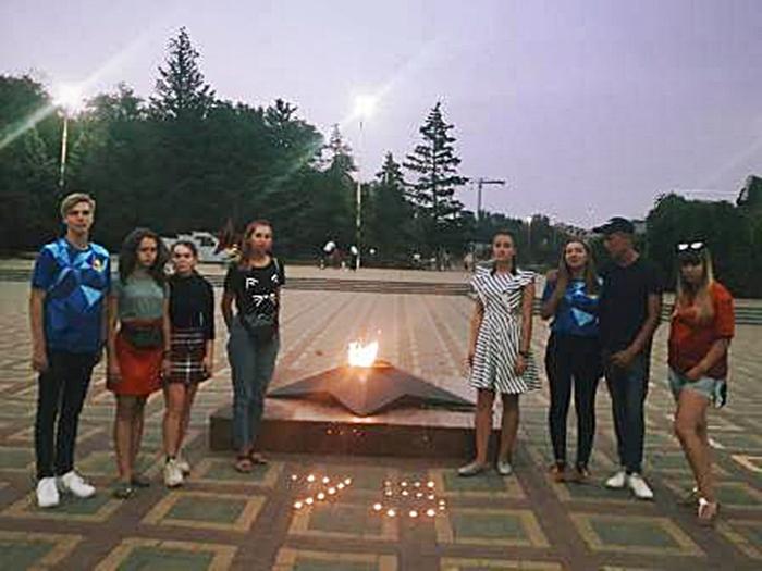 Волонтёры организовали акцию памяти