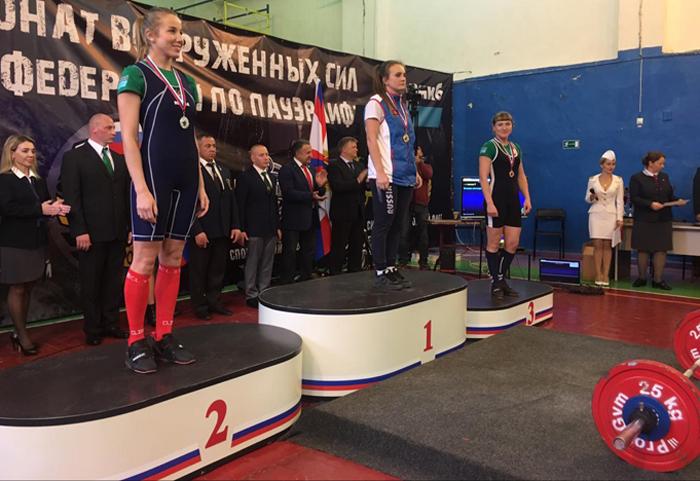 Воспитанница шахтинской школы дзюдо стала чемпионкой Вооруженных сил России по пауэрлифтингу