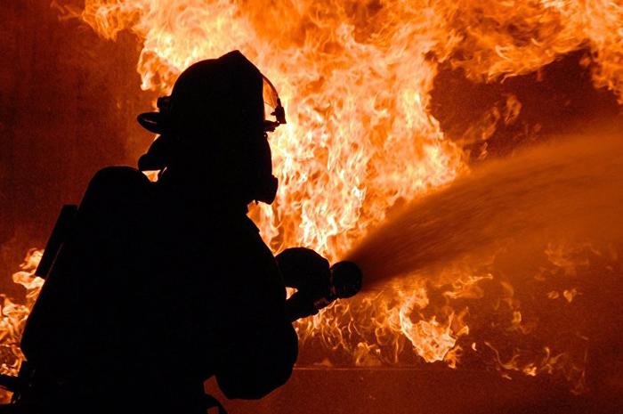 Пожар случился в поселке Южный