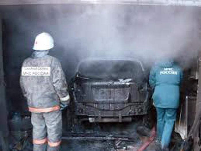Сгорели две машины