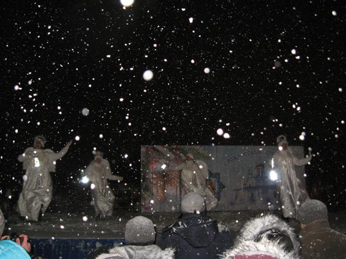 Несмотря на метель, праздник на Соборной площади состоялся